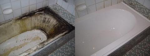 ванна до и после установки акрилового вкладыша