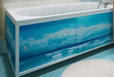 экран под ванну морской бриз