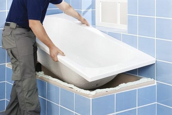акриловая вставка в ванны