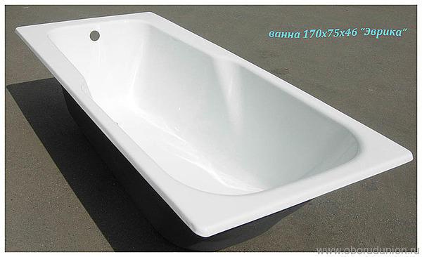 Ванна чугунная «Эврика» 170х75